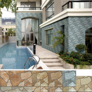 Porcelain Brown Natural Granite Stone Mosaic Exterior Wall Tile (200X400mm)