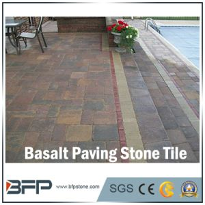 Honed/Flamed Natural Basalt Paving Stone for Garden / Landscape Project pictures & photos