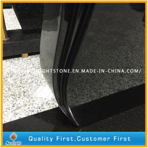 Hand Carved Absolute Shanxi Black Granite Gravestones for Memorial pictures & photos