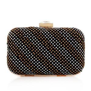 High Quality Newest Rivet Women Handbag Box Clutch Bag pictures & photos