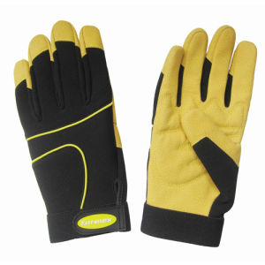 New Synethic Leather Construction Mechanical Worker Safety Gloves pictures & photos