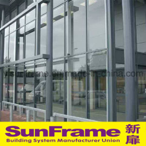 Aluminium Curtain Wall System with Semi-Expose Frame pictures & photos