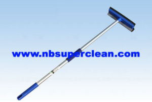 Aluminum Handle 10′′ Head Rubber Sponge Wiper Car Wash Foam Brush Window Squeegee (CN1717) pictures & photos