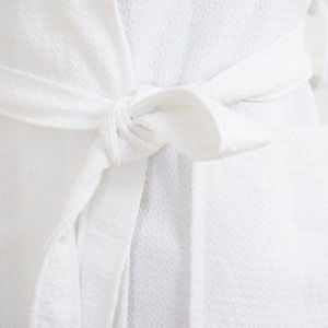 100% Cotton Fancy Waffle Bathrobe (DPFT8041) pictures & photos