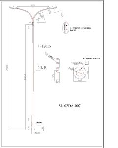 Q345 S355 Double Arm Road Light Pole pictures & photos