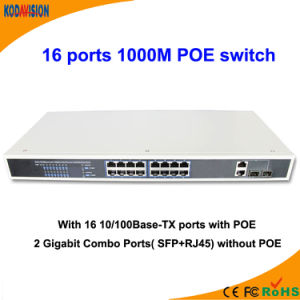 18 Ports 1000m Poe Switch pictures & photos
