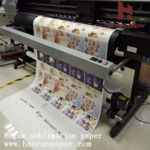 Competitive Price 70/80GSM Sublimation Heat Transfer Paper Roll Size pictures & photos