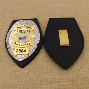 High Quality Custom USA Leather Security Police Badge with Holder pictures & photos