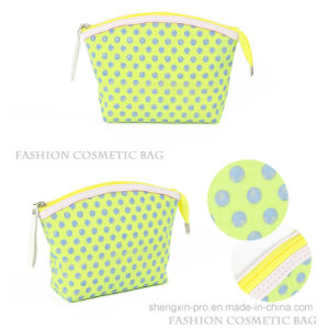 Fashion PU Cosmetic Bag with Spots Printing