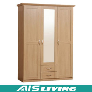High Quality Classical Wooden Furniture Bedroom Wardrobe Closet (AIS-W114)