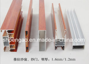 Popular Wood-Grain Sliding Window Aluminum Profile