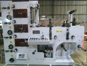 Flexo Printing Machine with Two Die Cutting Station Four Color pictures & photos
