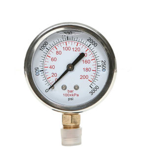 OEM Acceptable Industrial Liquid Fillable Pressure Gauge pictures & photos