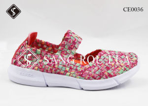 Fashion Women and Kids Weave Sport Shoes pictures & photos