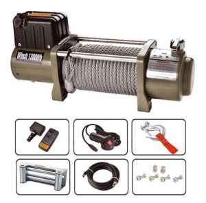 Electric 4WD Winch Wireless Remote 12000 Lbs Huge Lift