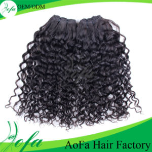 Grade 7A High Quality Remy Human Hair Weave Curly pictures & photos