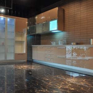 Aluminium Frame Glass Door Modular Home Furniture Vinyl Wrap Kitchen Cabinet Design pictures & photos