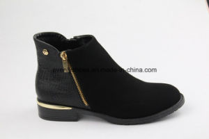Casual Style PU Shoes Fashion Lady Ankle Boots pictures & photos