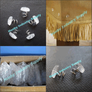 Uphostery Clear Plastic Head Twist Pins for Furniture (P160111E)
