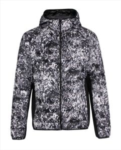 OEM Water-Print Light Weight Fashion Men′s Down Quilted Jacket pictures & photos