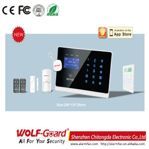 Wolf-Guard Smart Wireless GSM Home Safe Burglar Security Alarm with Smoke Detecor pictures & photos