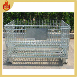 Folding Stainless Steel Stacking Warehouse Cage Wire Mesh Container pictures & photos