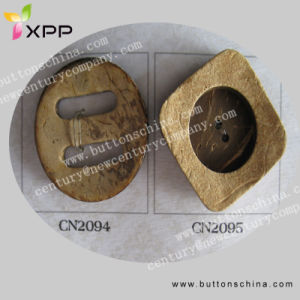Big Hole Natural Coconut Shell Button pictures & photos