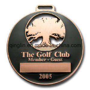 Custom Golf Ciub Member Metal Medals with 3D Logo (QL-JP-0019) pictures & photos