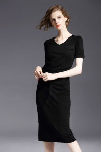 OEM Service Fashion European Hot Sale Knitted Lady Dress pictures & photos