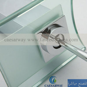 Acs Brass Single Handle Waterfall Basin Faucet with LED pictures & photos