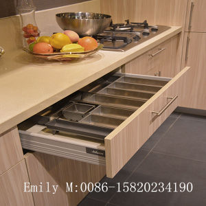 Scratch Proof Lct MDF Door Island Kitchen Cabinet pictures & photos