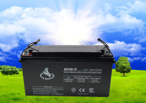 12V 150ah Rechargeable VRLA Deep Cycle Battery for Solar/Wind Power System pictures & photos