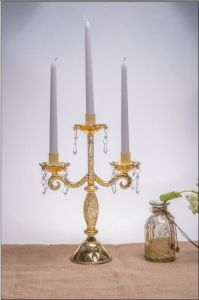 Glass Candle Holder with Three Posts by SGS (9.5*23.5*32.5) pictures & photos
