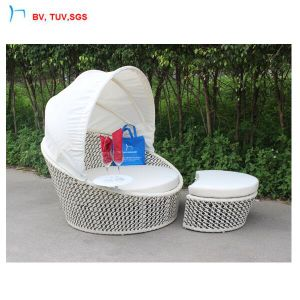 China Synthetic Rattan Bedroom Furniture Lounge Bed Bench  China