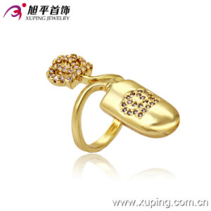 13253 Latest 14k Gold-Plated Special Imitation Fashion Jewelry Finger Ring in Copper Alloy pictures & photos