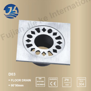 Square Bathroom Concrete Shower Floor Drain Cover Wire Grate (D03) pictures & photos