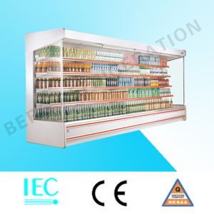 Supermarket Open Multideck Curtain Refrigerator pictures & photos