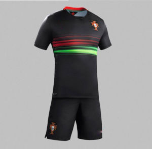 2015 European Cup Portugal National Team New Jersey Soccer Uniforms Clothes Training Suits pictures & photos