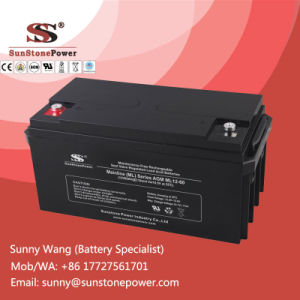 Rechargeable Power Battery 12V 60ah Free Maintenance AGM Battery pictures & photos