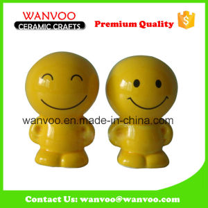 Promotional Simle Face Ceramic Artwork Money Coin Bank pictures & photos