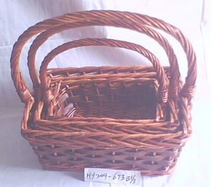 (BC-ST1033) High Quality Handmade Willow Storage Basket pictures & photos