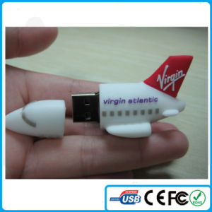 China Custom Virgin Airline Airplane PVC USB for Cooperation Gift