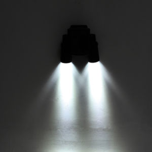 Adjustable Solar PIR Motion Sensor Flood Light, Solar Dual Head Spotlight, Solar Flood Lamp in Telescope Design pictures & photos
