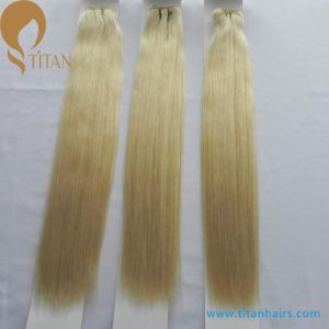 "12""-28"" Virgin Remy Human Hair Weft Blonde 613# pictures & photos"