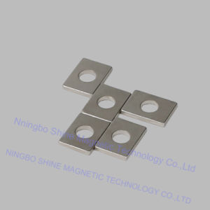 Small Size Magentic Sheet with Axial Hole Neodymium Magnet pictures & photos