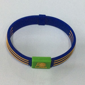 Professional Manufacture Embossed Sport Silicone Wristband pictures & photos