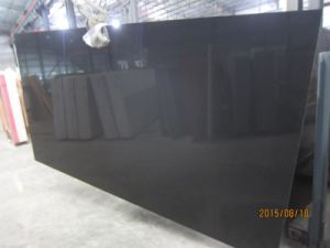 Pure Black Quartz Slab for Countertop pictures & photos