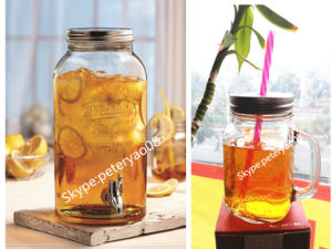 4L Glass Jar with Mason Design pictures & photos