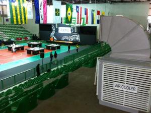1.1 Kw 18000m3/Htop Discharge Evaporative Air Cooler