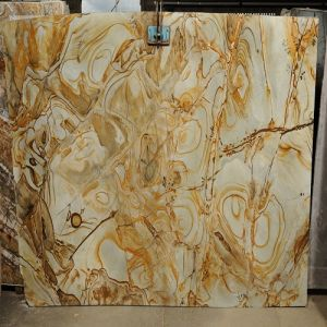 High-Quality Imported Yellow Granite Slab Carpe Diem for Stairs/Steps/Floors/Countertops/Table Tops pictures & photos